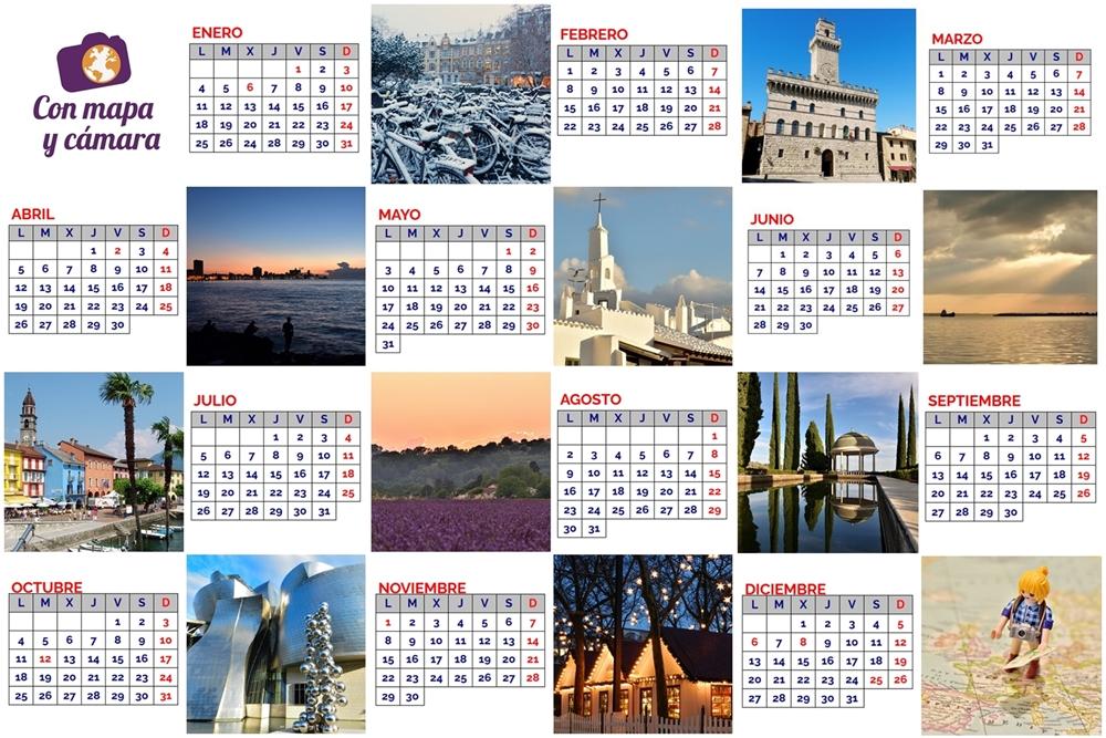 Calendario 2021 Con mapa y cámara