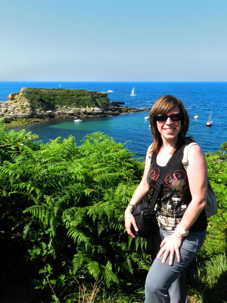 Vistas desde el mirador del Faro de Higuer en Hondarribia, País Vasco