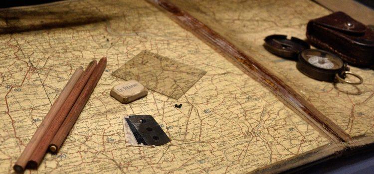 Mapa antiguo en Escocia