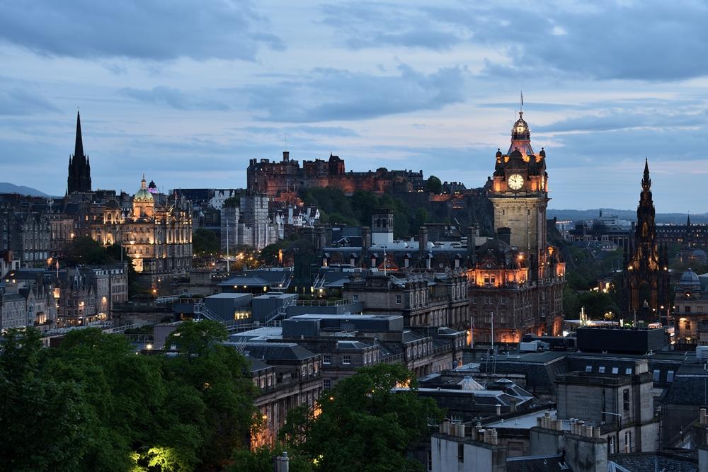 Vista desde Calton Hill, Edimburgo, Escocia