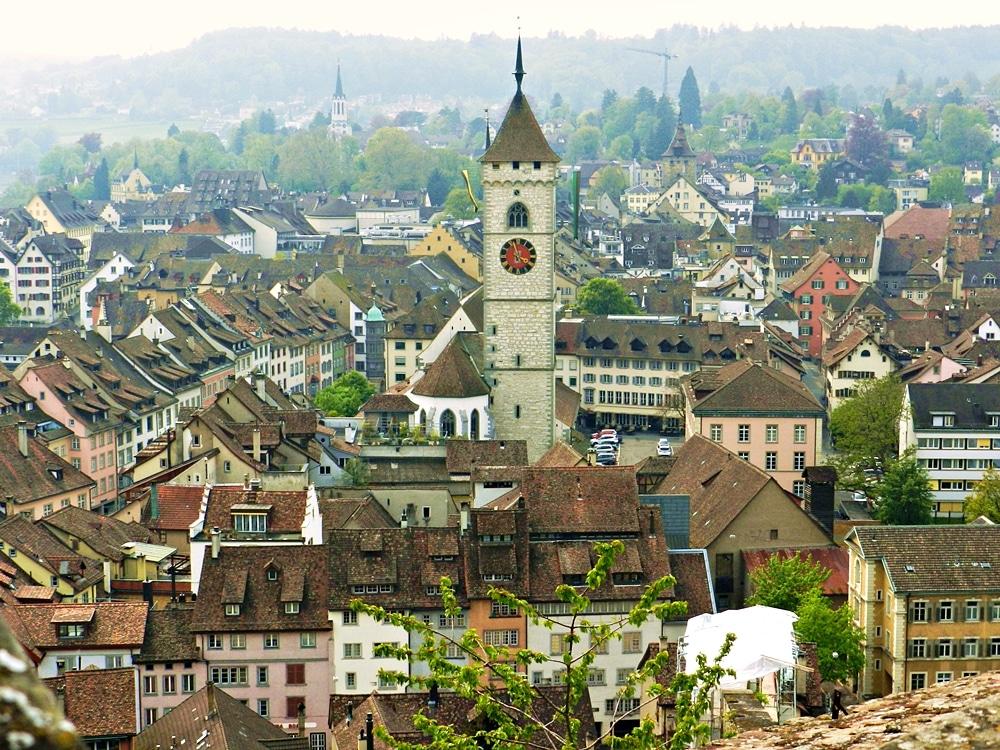 Schaffhausen panoramica centro