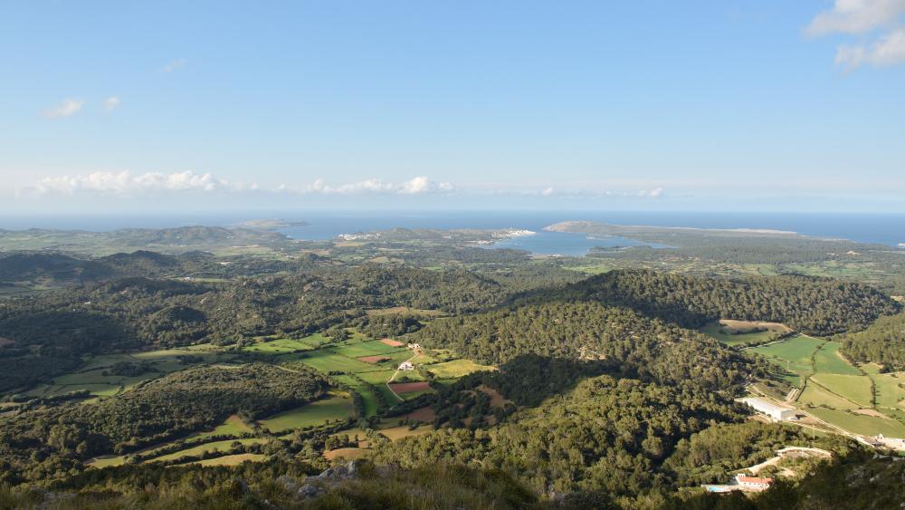 Vistas desde Toro Es Mercadal Menorca